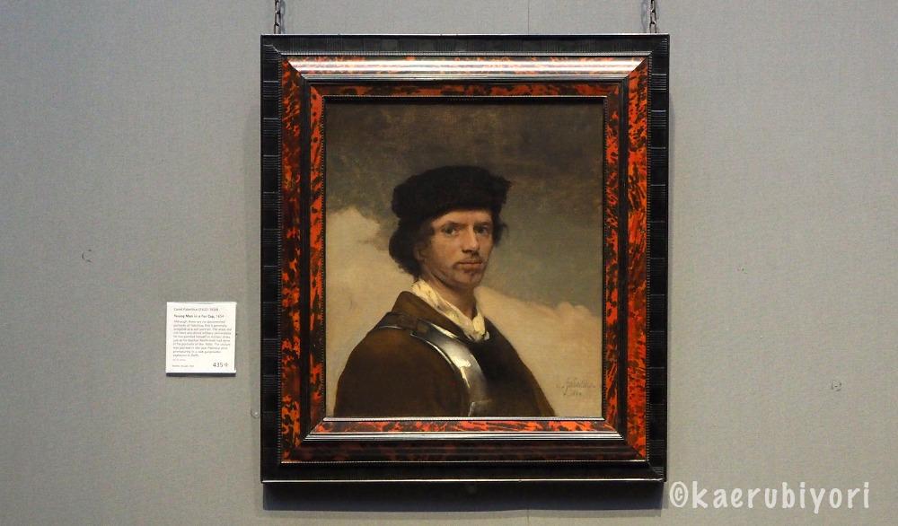 カレル・ファブリティウス「young man in a fur cap」「