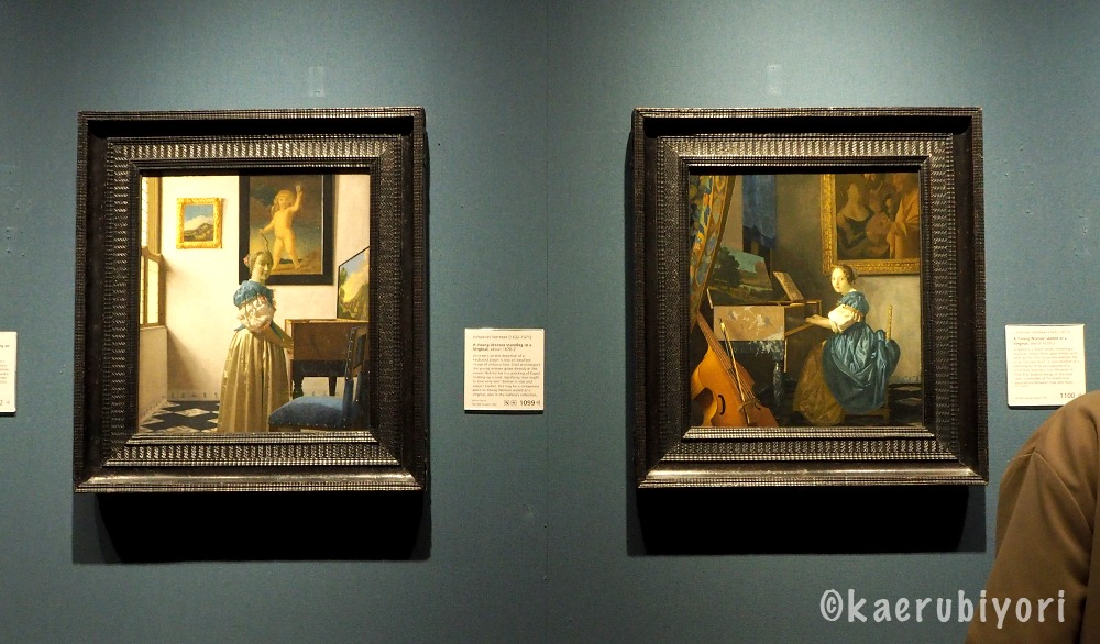 フェルメール「ヴァージナルの前に立つ女」「ヴァージナルの前に座る女」